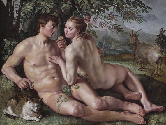 "Hendrik Goltzius' ""The Fall of Man"" (1616) (Wikimedia Commons)"